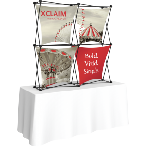 Xclaim 5ft Tabletop Fabric Popup Display Kit 04
